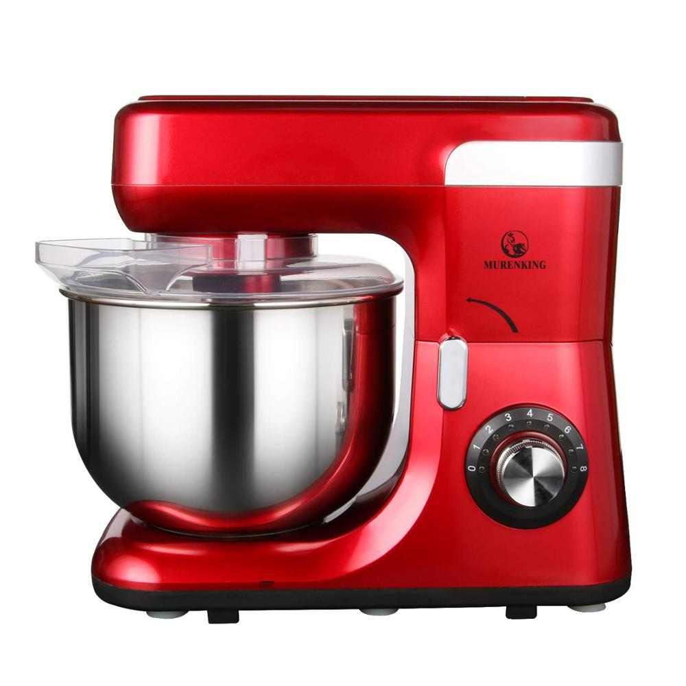 Very cost-effective multifunctional red stand cake mixer in Kitchen 5.5L 1200W