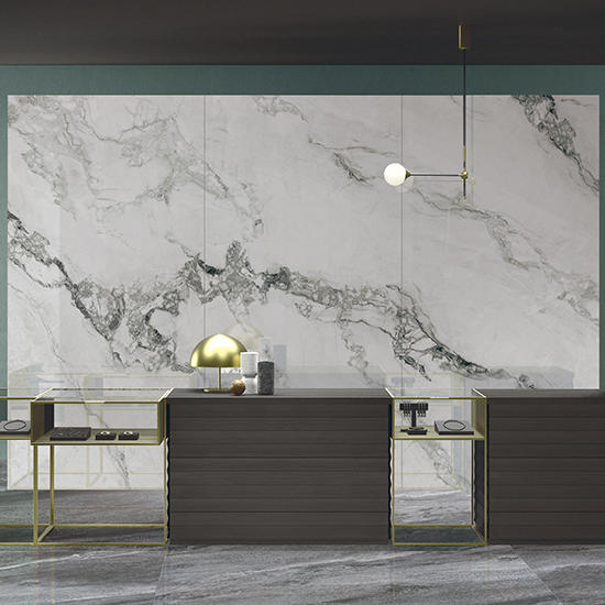 Swan Lake White Ceramics Table Top Marble Kitchen Bathroom Polished Furniture Marble porcelain Shower Big Size Slab Tiles