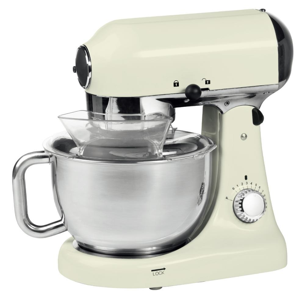 4.7L 1000W planetary gearbox stand mixer with rotating bowl