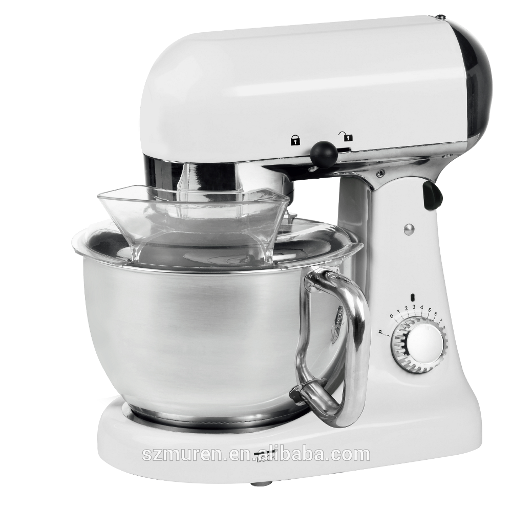 Electric stand food mixer for chocolate, cream making and dough kneading