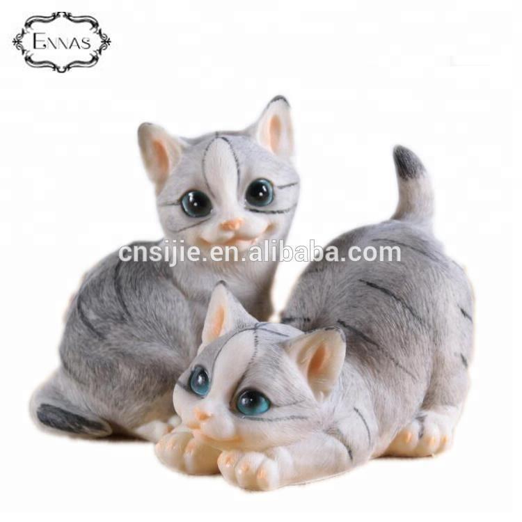 Polyresin indoor decorative custom mini cat statues