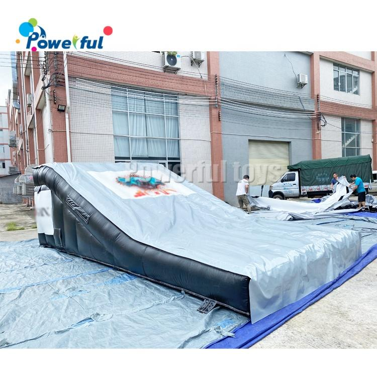 Popular inflatable stunt sports bike ramp airbag landing for FMX BMX