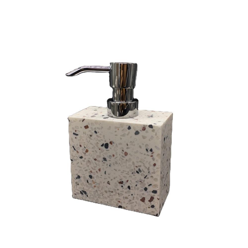 Classic Terrazzo Resin Bathroom Lotion Pump Soap Liquid Dispenser