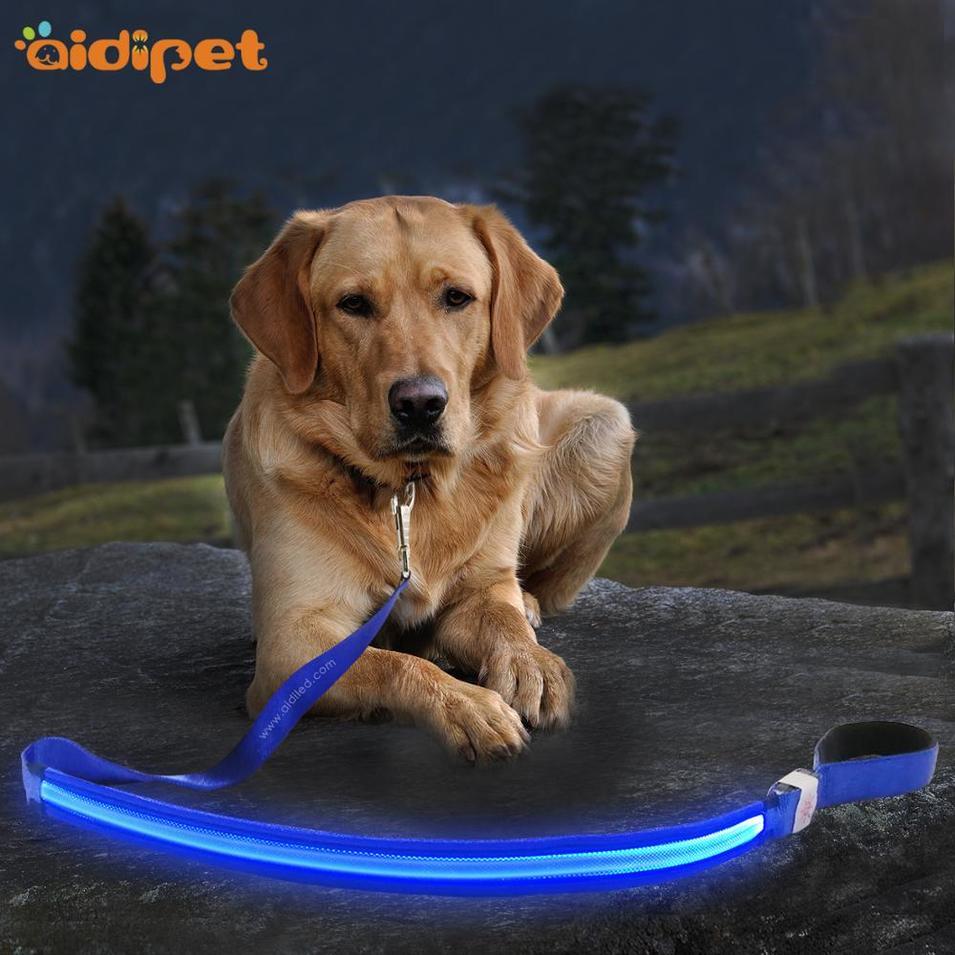 High Quality Adjustable Pets Dog Leash led Nylon Leash for pet dog