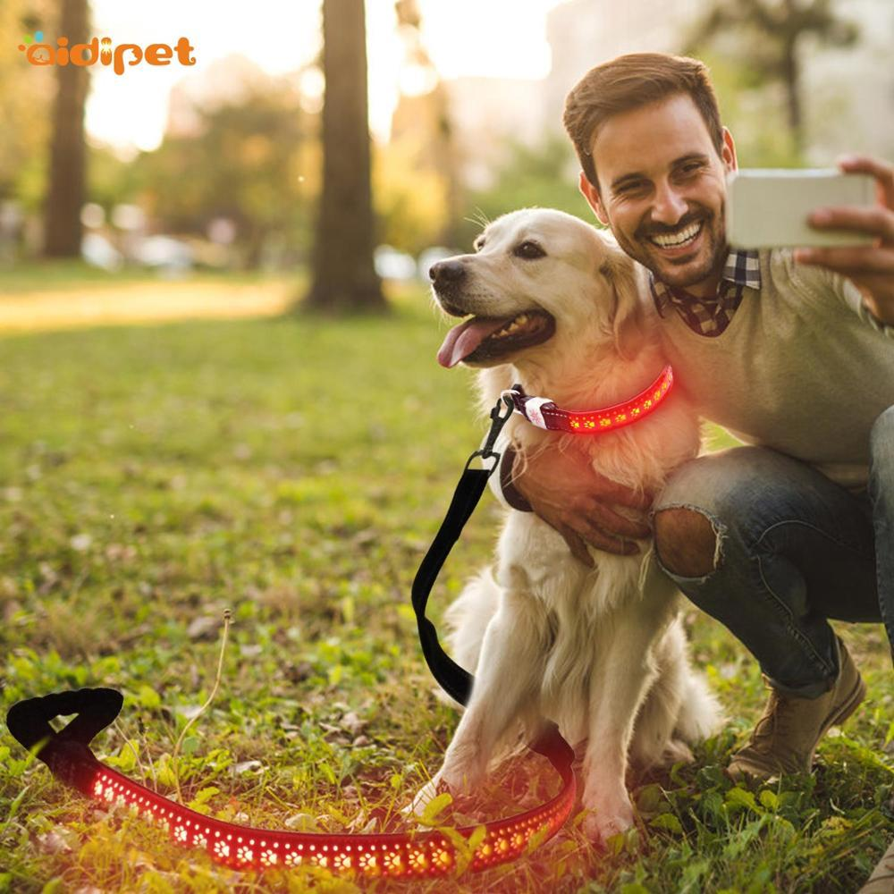 Adjustable Length Nylon led pet Leash Lead safety Dog Car Seat Belt