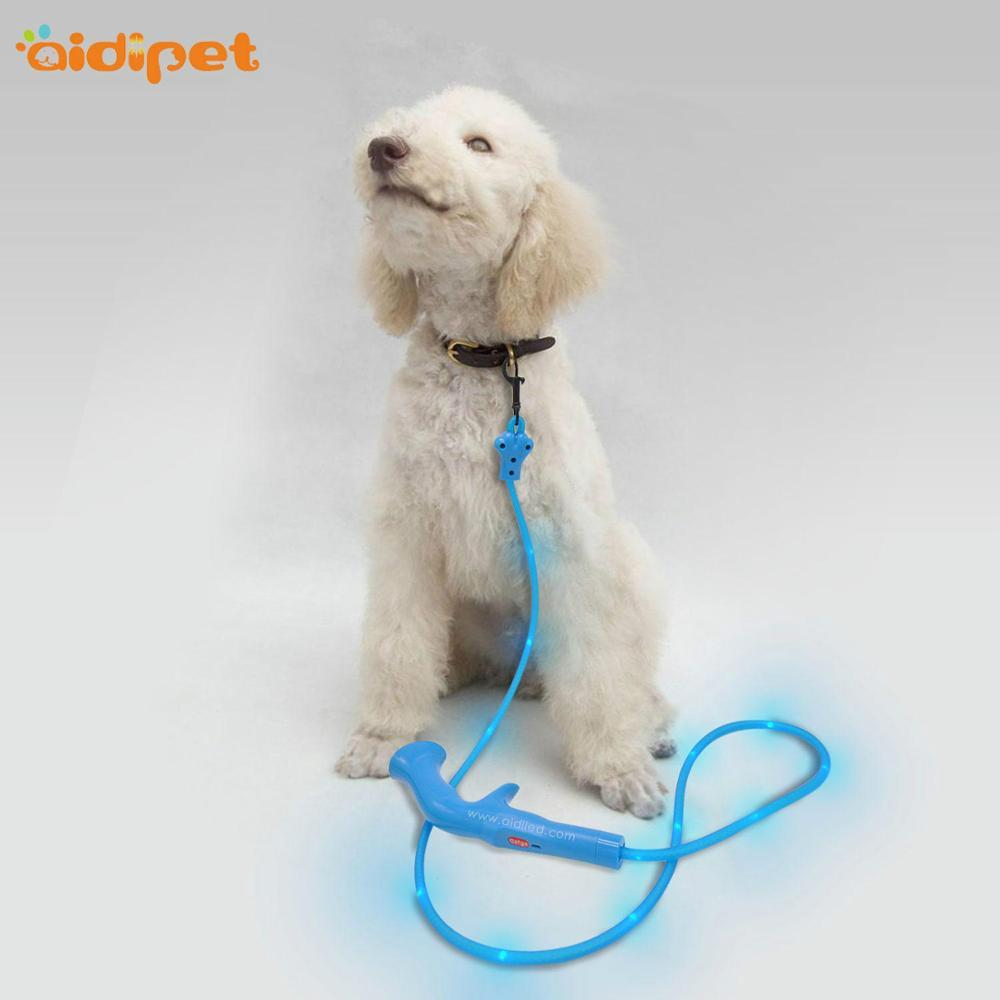 LED PU pvc dot light USB rechargeable Dog Leash