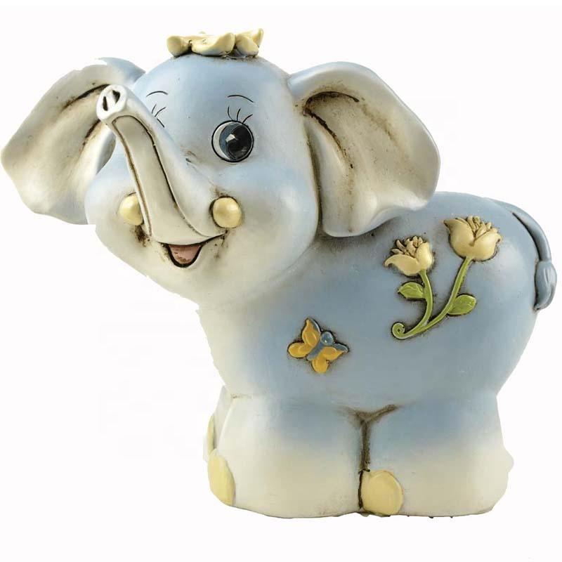 Wholesale Resin Lovely Elephant Shaped Custom Money Box Saving Bank Home Decor Statue