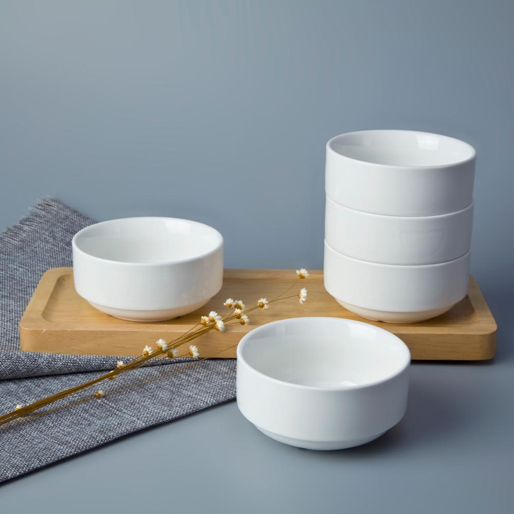 Top choice banquet buffet personalized porcelain 250ml ceramic stackable soup bowls