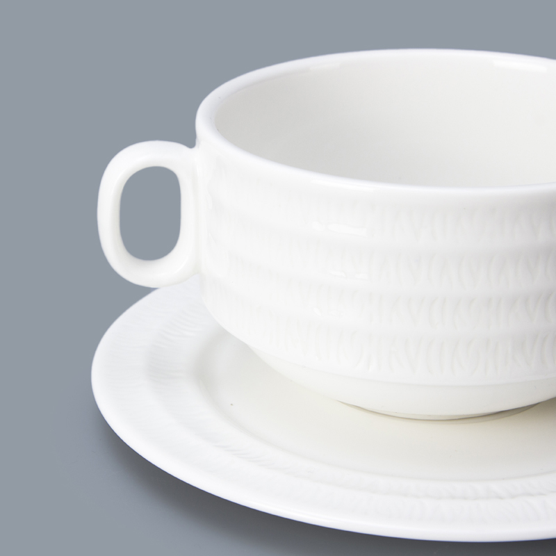 accessories catering bowl with handle ceramic white soup tureen set porcelain