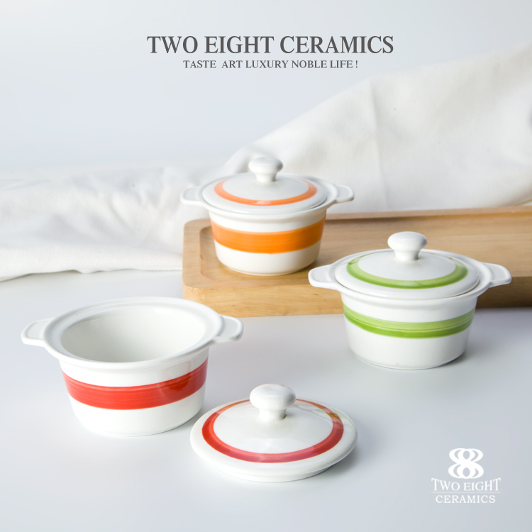 small microwave soup bowl with lid and handle dessert bowl