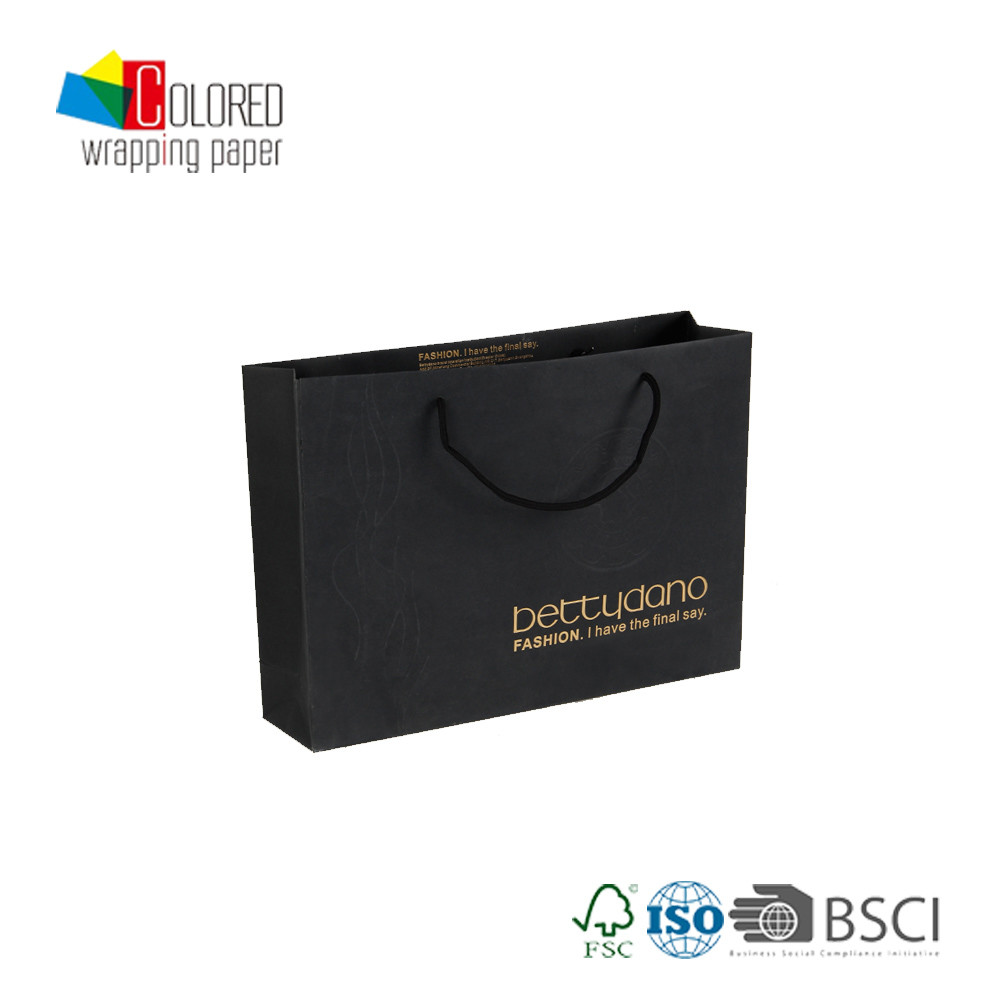 Premium Custom Branded Shopping Paper Bags with Printed Logo