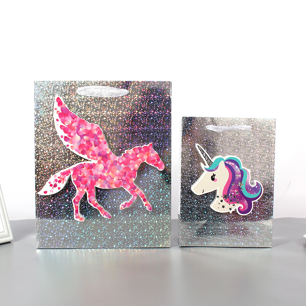 Hot Selling Gift Paper Bag With Holographic Foil Lamination Paper Bag Supplier