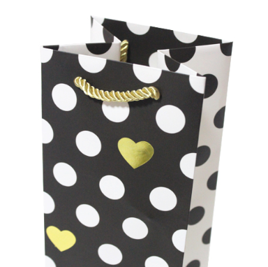 Top PopularHigh Quality Color Printed Hot Stamping Custom Paper Wine Paper Bags