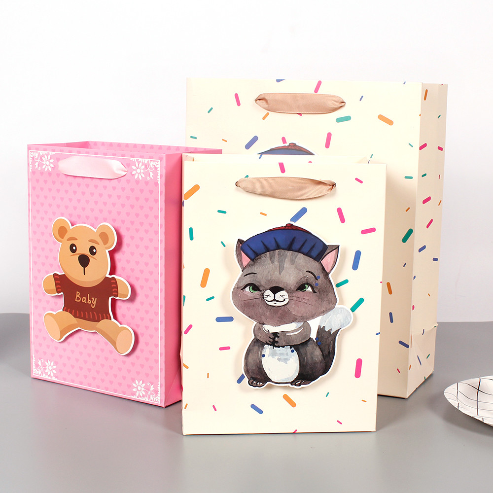 Hot Selling Bags Paper Bags With Cute Animal Designs Paper Bag With Handle