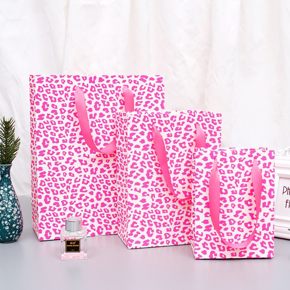 Paper bag with handle making custom print logo hot sale design