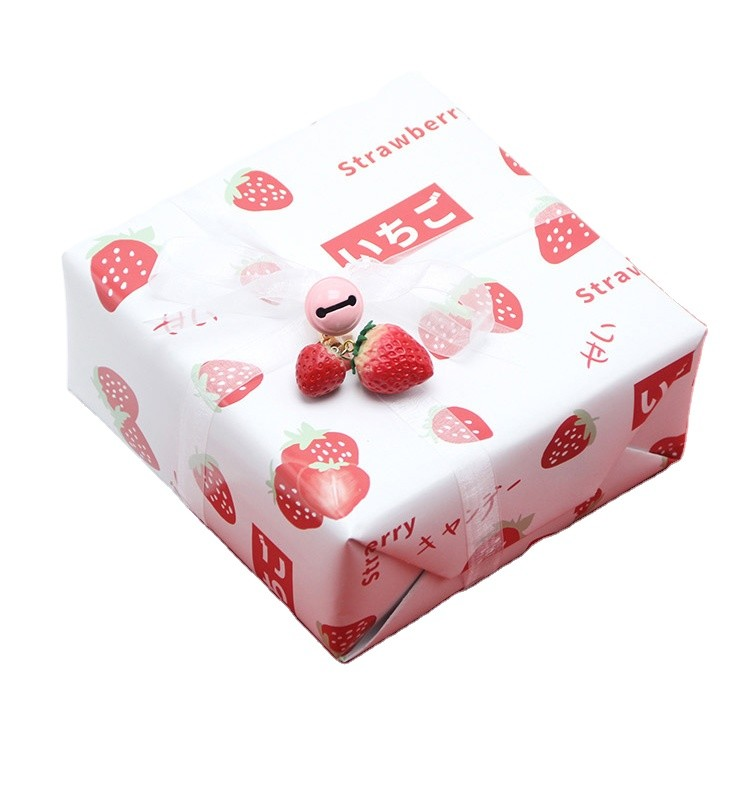 strawberry luxury fashion gift wrapping paper CMYK printing art paper