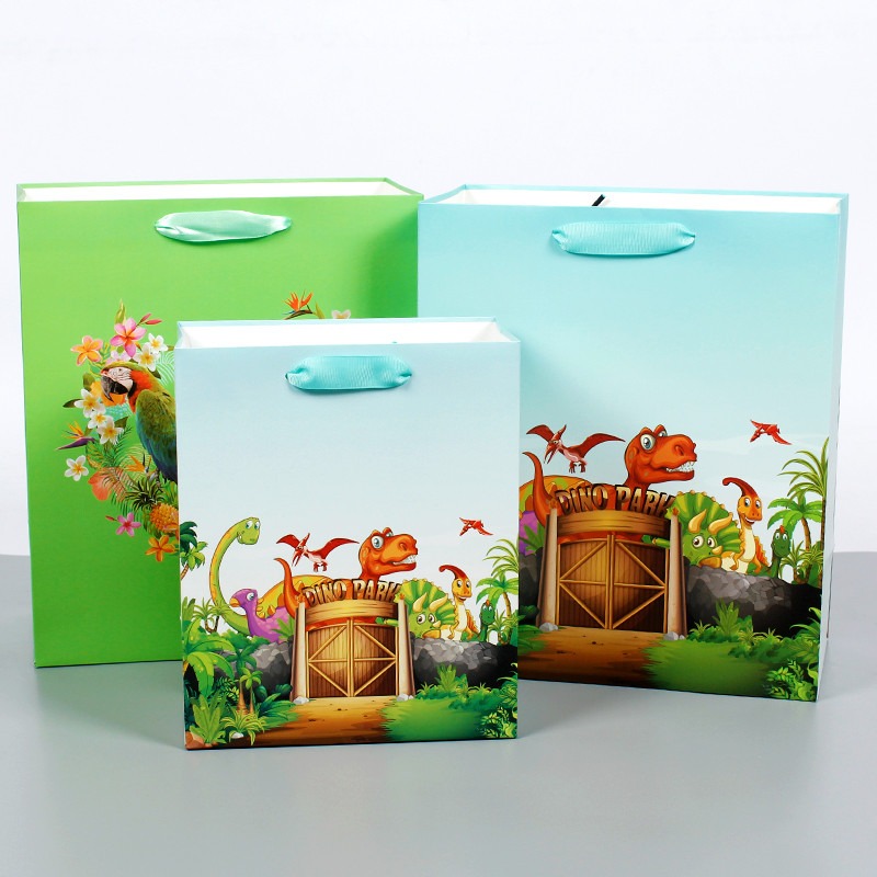 Wholesale China Paper Bag With Bird Or Dinosaur Design Of Gift Bag Paper Shopping Bag