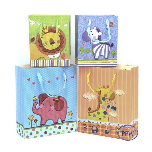 Cartoon Design Cute Animal Printing Gift Paper Bag Logo Printer Shopping Custom Printed