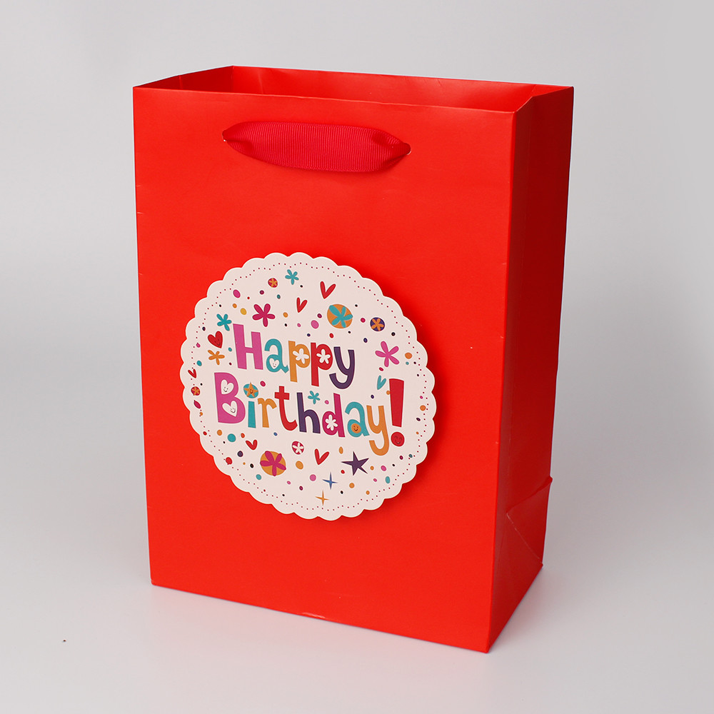 Good Selling Luxury Paper Bad With Ribbon with 3D Tip