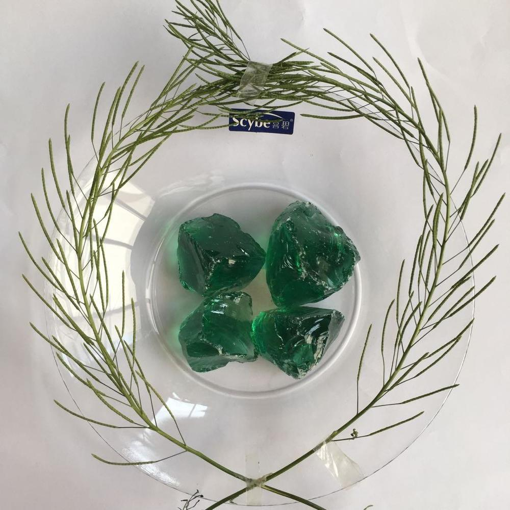 Landscaping Colored Green Large Glass Rocks for Garden