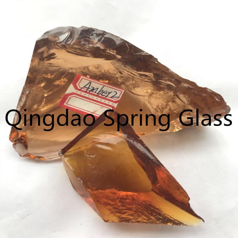 Dark Brown Glass Stones for Decoration