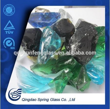 Tumbled Landscape Glass Rocks