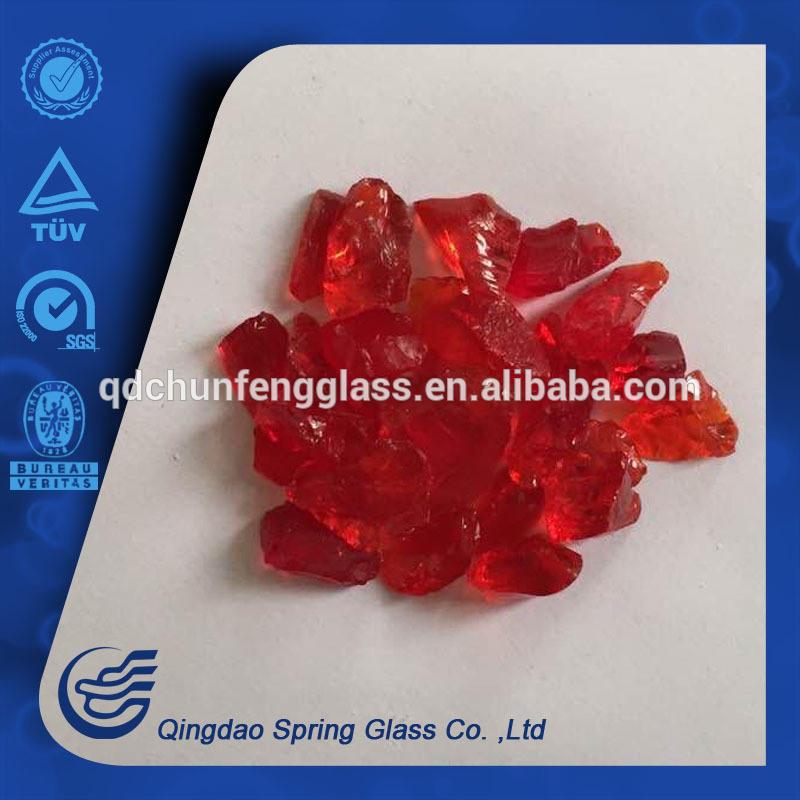 1-3cm Bright Red Glass Rocks