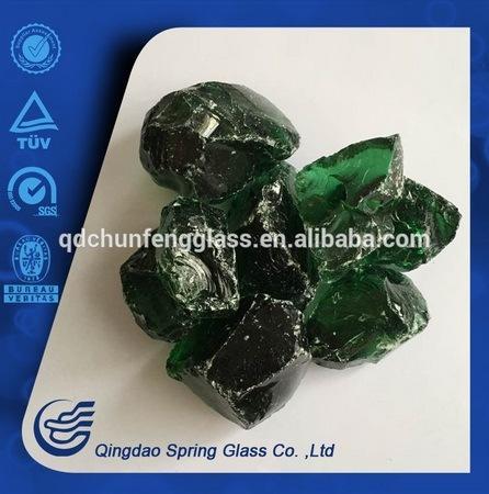 Dark Green Glass Lump