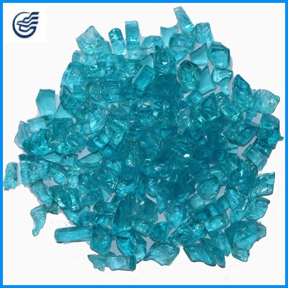 Cheap Crushed Colored Tempered Fireplace Clear Glass Chips
