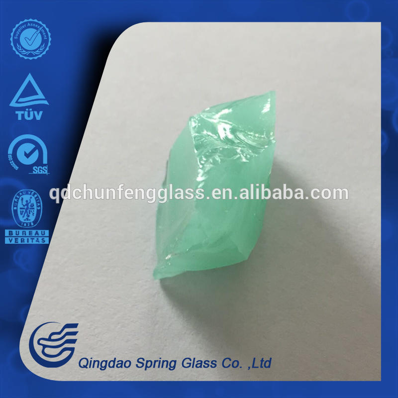 Light Green Beauty Color Glass Rocks