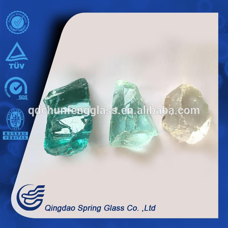 Transparent Light Color Glass Rocks