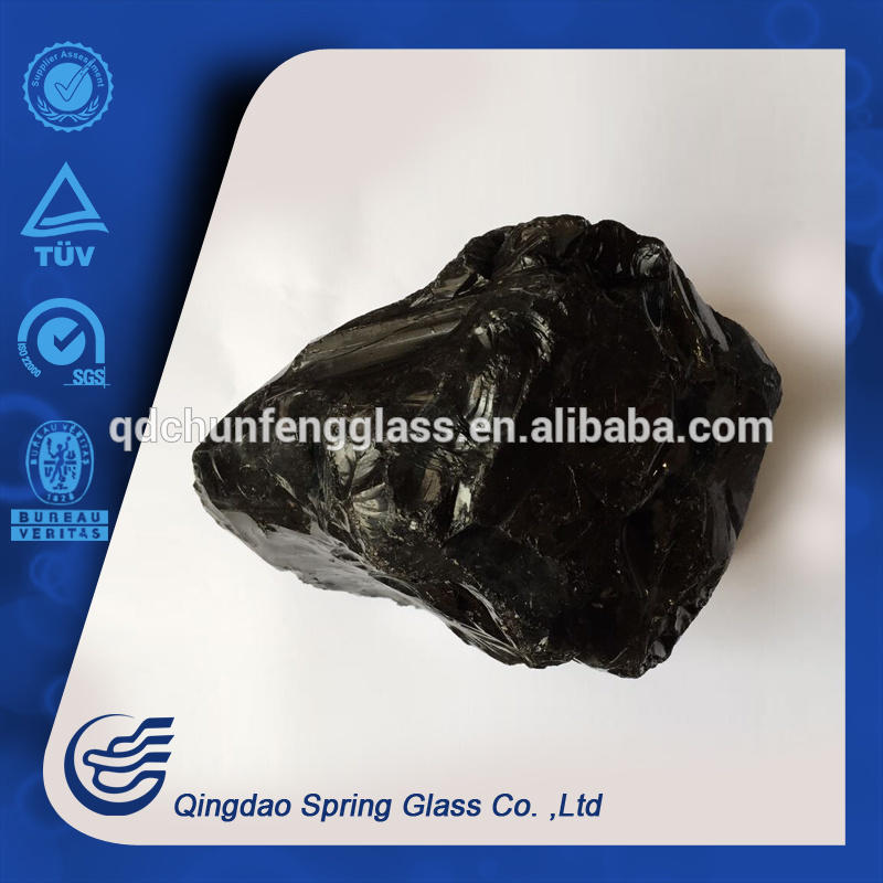 Black Large Glass Rocks From Factory