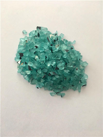 Green Glass Particles Directly From Factory