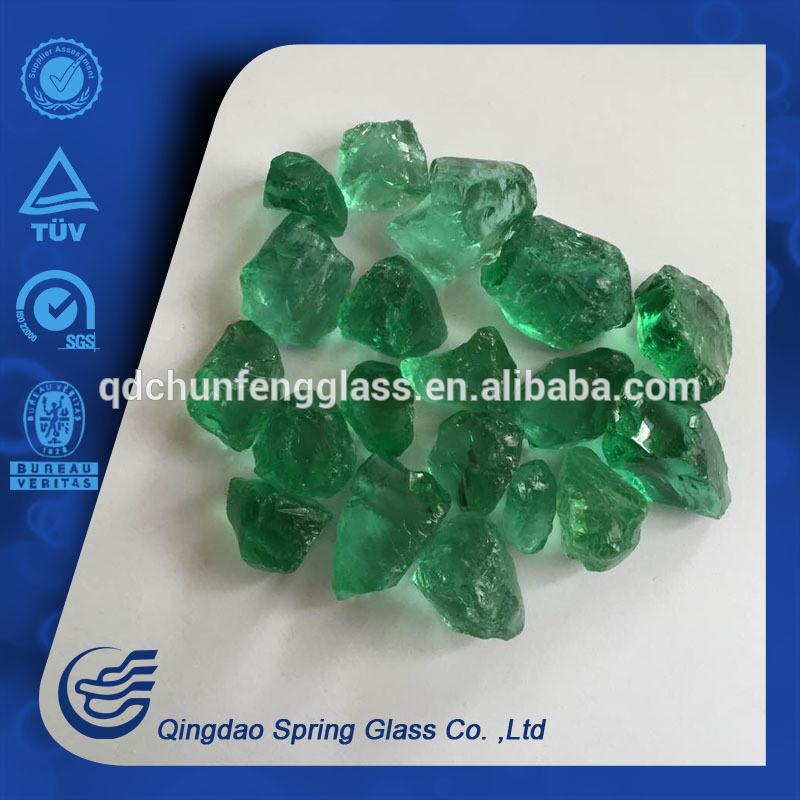 Aqua Green Small Size Glass Rocks