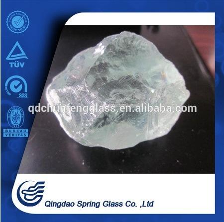 Transparent Crushed Glass Lump for Sale
