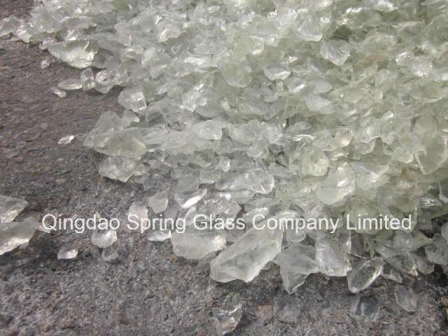 Super White Glass Rocks for Fireplace & Landscape & Square & Garden & River Decoration