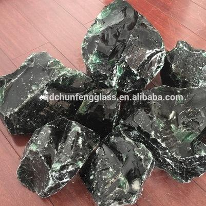 Green Color Large Glass Chunks