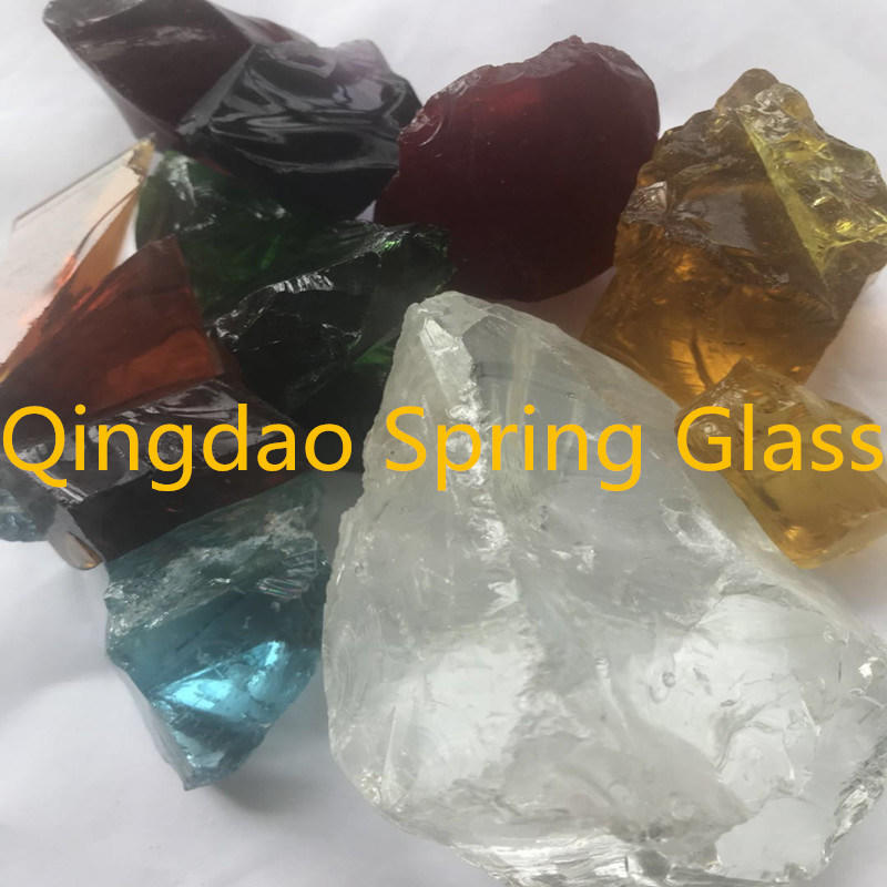 Not Transparent Glass Rocks From Spring