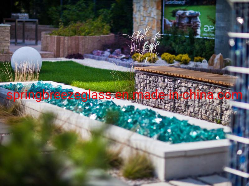 Dark Amber Glass Rocks in Stock for Garden or Lake Decoration