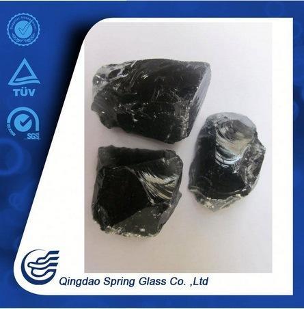 Black Glass Lump 20-50mm, 50-80mm, etc