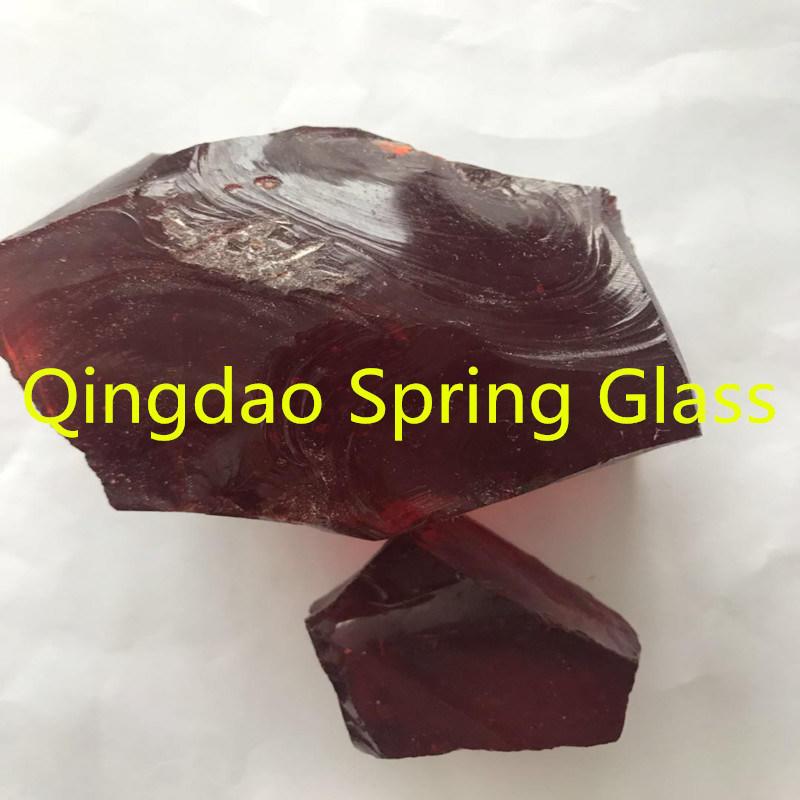 Purplish Red Color Glass Stones