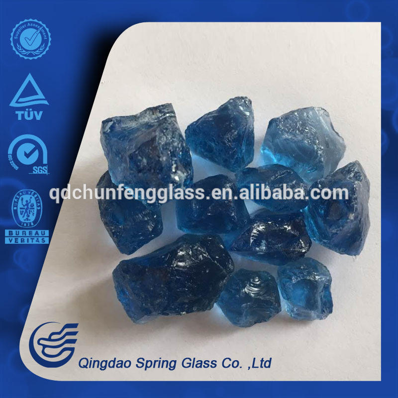 Deep Blue Glass Stones 1-3cm