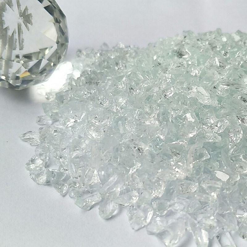 Cheap Factory Price Glass TV Screen Glitter Chips Scrap