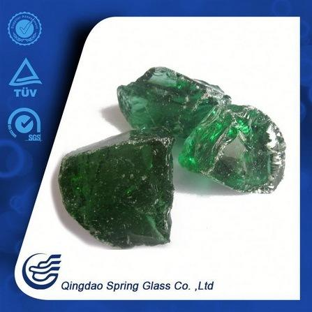 Qingdao Black Green Glass Stones