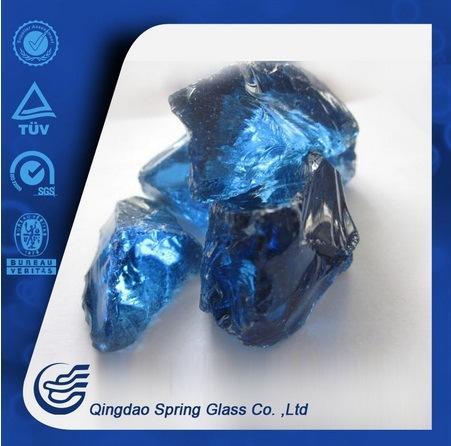 Dark Blue Glass Stone for Decoration