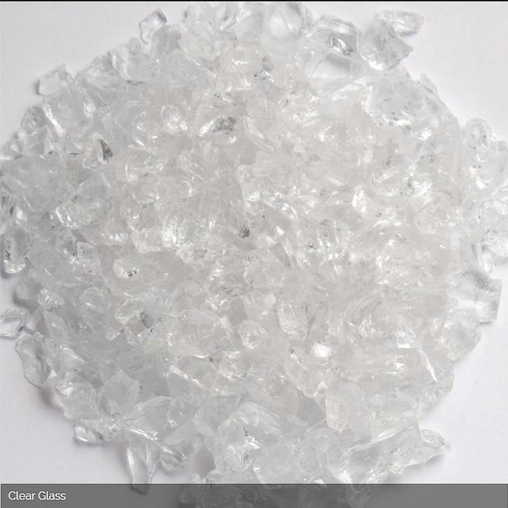 OEM White Sheet Cullet Glass Chippings for Construction Use