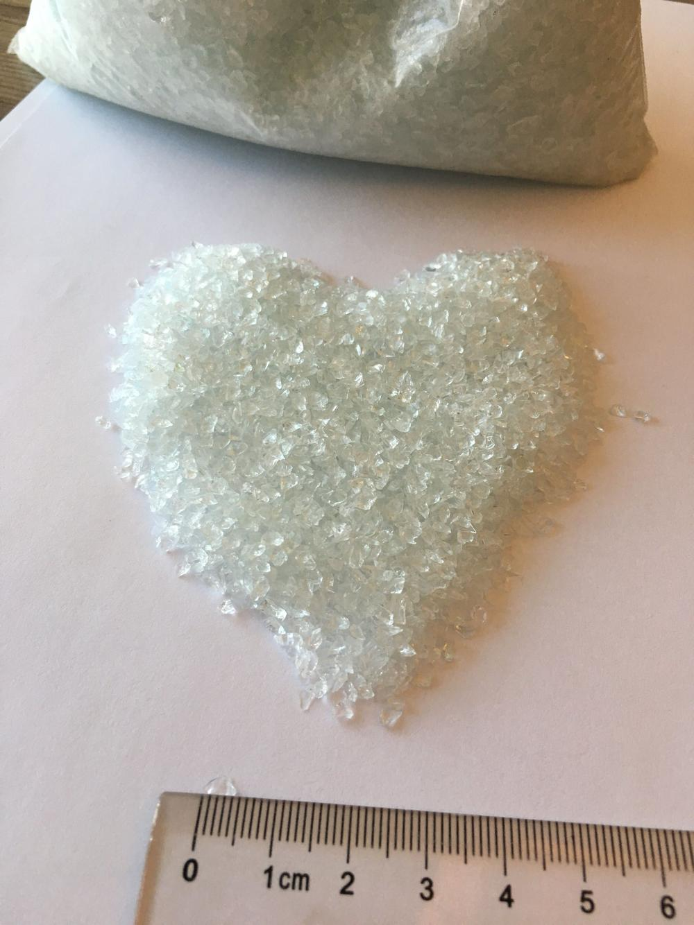 Crushed Glass Chips Glass Factory Price Quality Crushed Glass Chips for Terrazzo Tile