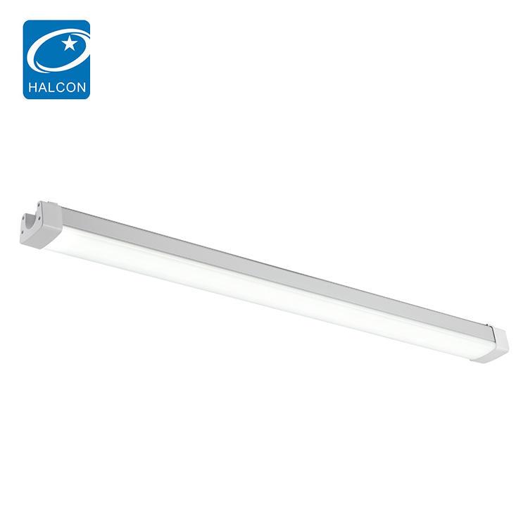 Halcon lighting waterproof ip65 indoor 4ft 8ft 36w 60w led slim tri-proof light