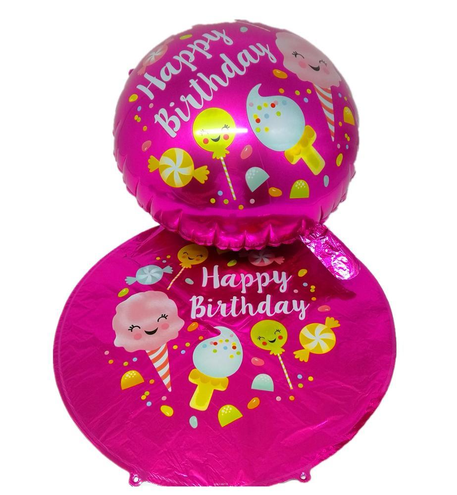 18 inch happay birthday decoration pink foil helium balloon