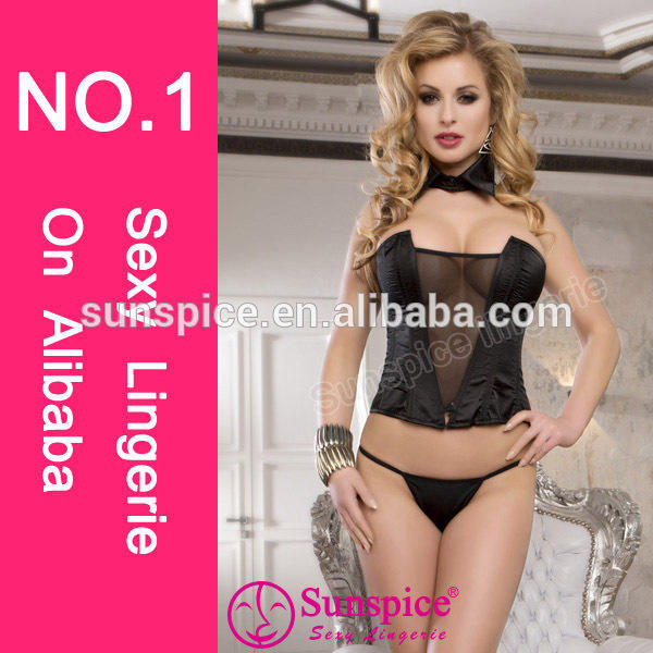 new style top quality wetlook lingerice mesh lingerice sexy busty corset bustier